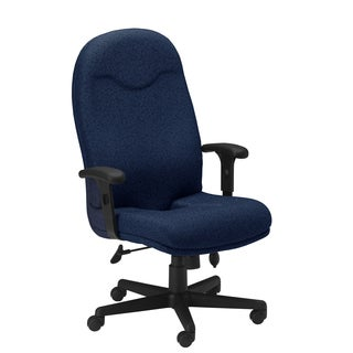 Mayline Comfort Series Blue Executive High-back Chair