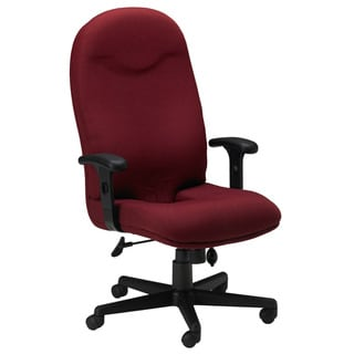 Mayline Comfort Series Burgundy Executive High-back Chair