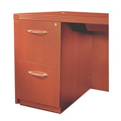 Mayline Aberdeen Series Cherry Wood Two-compartment File Pedestal
