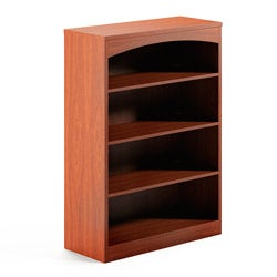 Mayline Brighton Series Four-Shelf Laminated-Wood Bookcase
