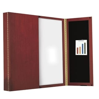 Mayline Dry Erase Cabineted Magnetic Presentation Board
