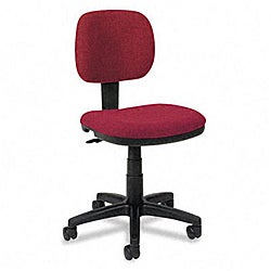 basyx by HON VL610 Series Burgundy Swivel Task Chair
