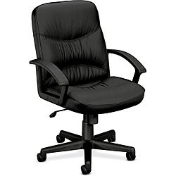 basyx by HON VL640 Series Leather Mid-Back Managerial Chair