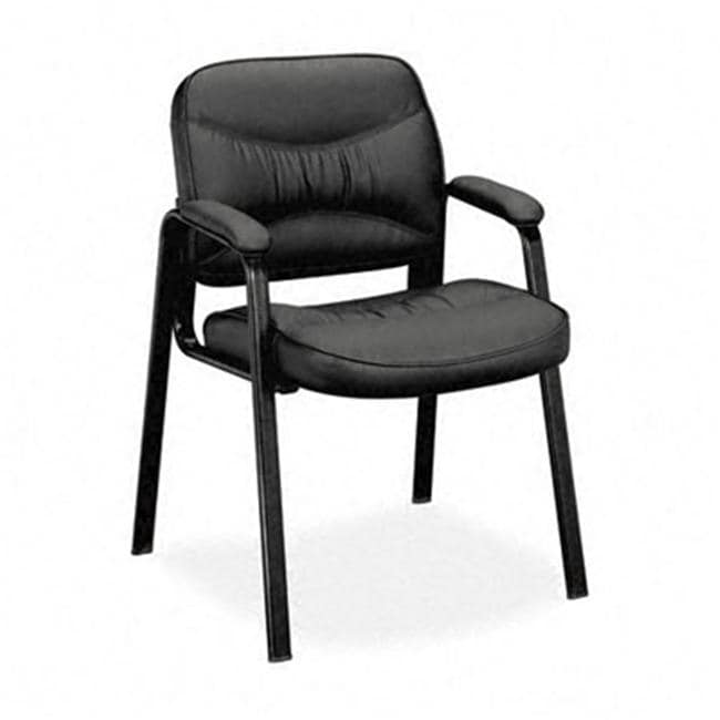 Basyx By HON VL640 Series Leather Guest Leg Base Chair 13557377