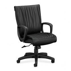 HON Ampere Leather Executive Black Chair