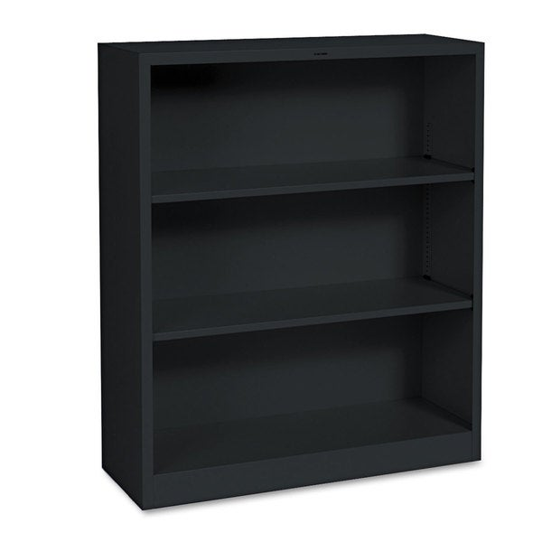 HON Metal Bookcase 3 Shelves 34-1/2w x 12-5/8d x