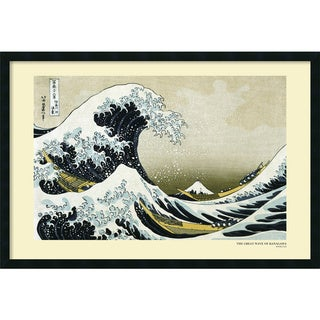 Katsushika Hokusai 'The Great Wave off the Coast of Kanagawa' Framed Art Print