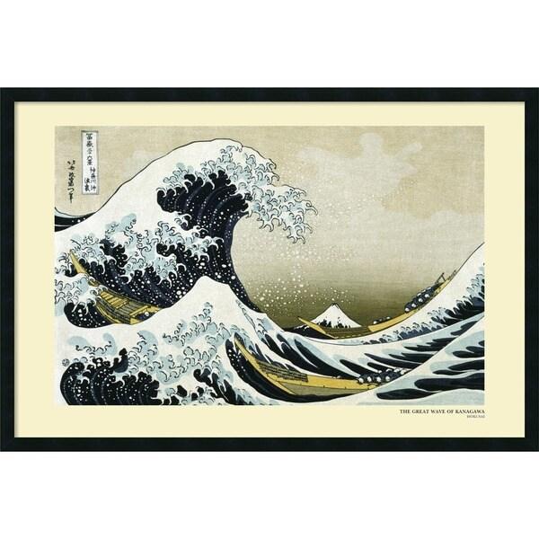 Katsushika Hokusai 'The Great Wave off the Coast of Kanagawa, 1831' 37 x 25-inch Framed Art Print with Gel Coated Finish