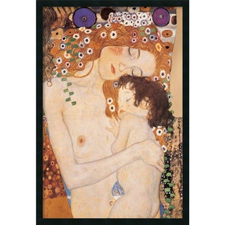 Gustav Klimt 'Three Ages of Woman - Mother and Child, 1905' Framed Art Print