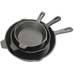 Bayou Classic 3-piece Cast Iron Skillet Set