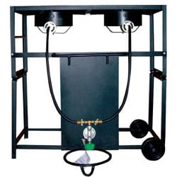 King Kooker 28-inch Dual Cast Burner Cart