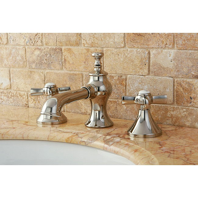 French country bathroom vanity - French Country Polished Nickel Widespread Bathroom Faucet 13560574