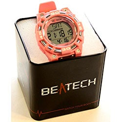 Beatech Pink Alarm Clock/ Stopwatch/ Countdown Timer Watch Heart Rate Monitor