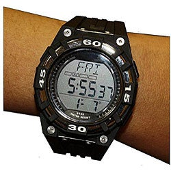 Beatech Black Alarm Clock/ Stopwatch/ Countdown Timer Watch Heart Rate Monitor
