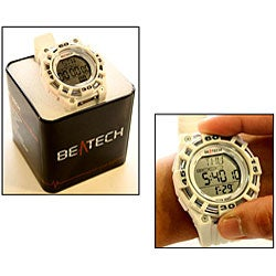 Beatech White Alarm Clock/ Stopwatch/ Countdown Timer Watch Heart Rate Monitor