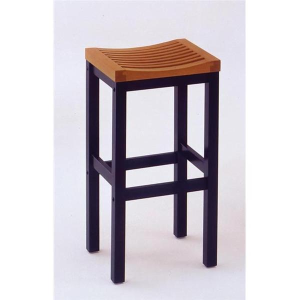 Home Styles 29 inch Bar Stool- Black with Oak Top