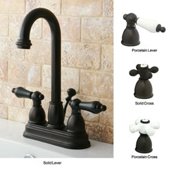 Oil Rubbed Bronze High Arc Bathroom Faucet
