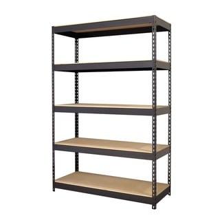 Iron Horse Black 5-shelf Riveted Steel Shelving