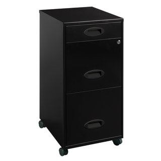 Office Designs Black 3-drawer Mobile File Cabinet