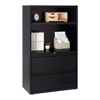 Hirsh HL5000 Series 36-inch Wide 2-drawer 2-shelf Lateral File Cabinet