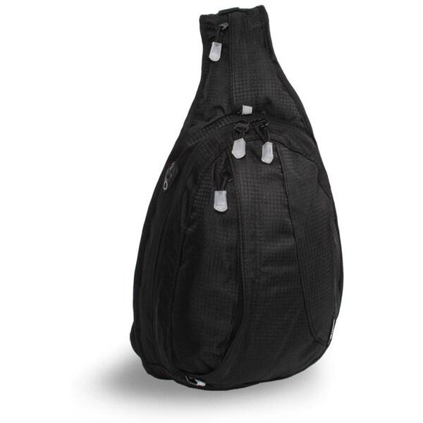 World black stacy mini sling backpack overstock shopping