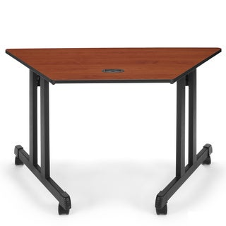 OFM Trapezoid Multi-Use Table 24 X 48 Cherry