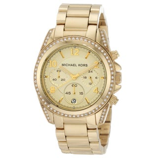 Michael Kors Women's MK5166 Blair Gold-Tone Stainless Steel Chronograph Watch