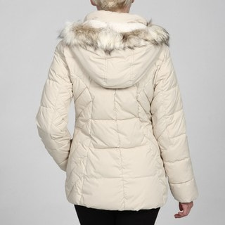 Esprit Women's Princess Seam Faux-fur Puffer Coat FINAL SALE