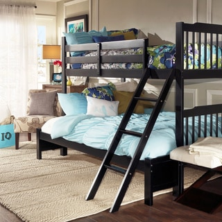 TRIBECCA HOME Simone Black Twin and Full Bunk Bed