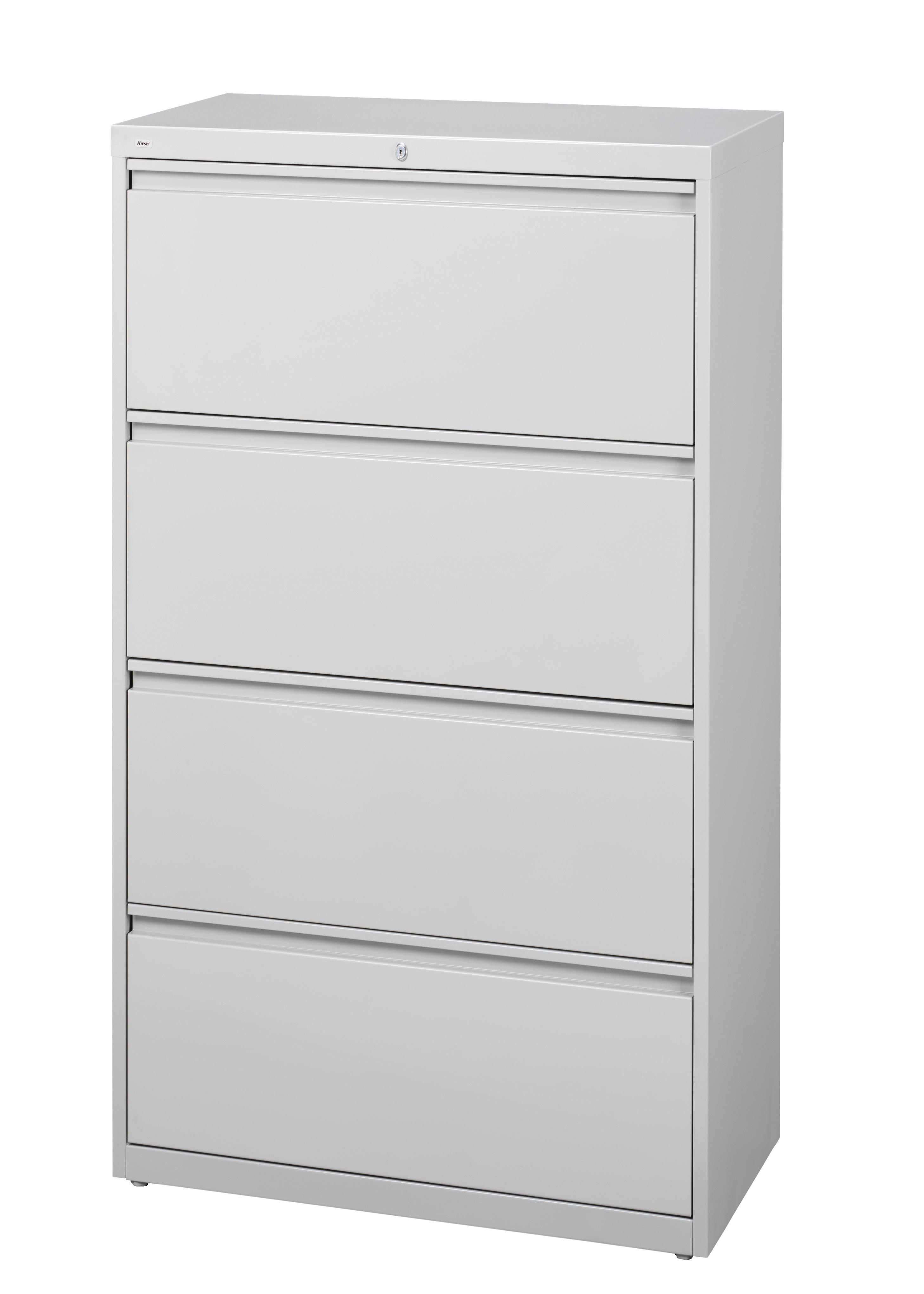 Hirsh HL10000 Series 30-inch Wide 4-drawer Commercial Lateral File Cabinet