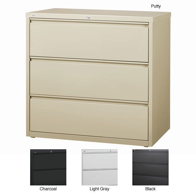 Hirsh HL10000 Series 42-inch Wide 3-drawer Commercial Lateral File Cabinet