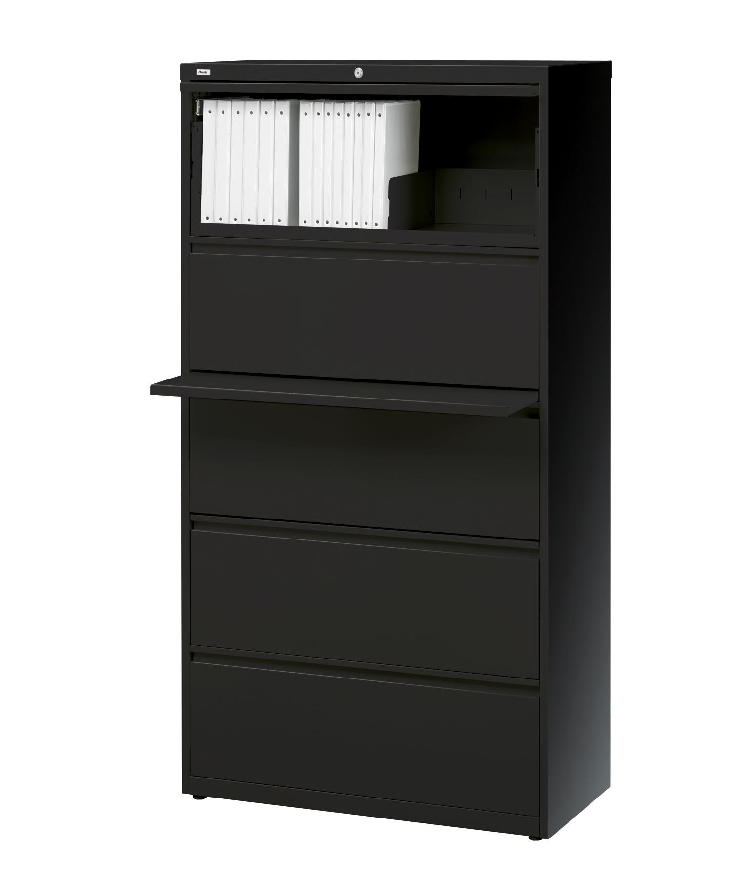 Hirsh HL10000 Series 5-drawer Commercial Lateral File Cabinet