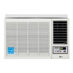 LG 7,000-BTU Heat and Cool Window Air Conditioner with Remote (Refurbished)
