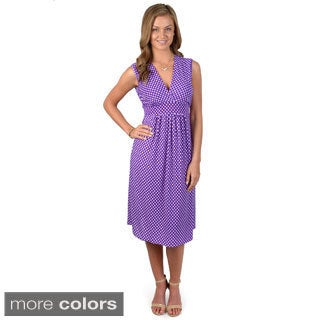 Happie Brand Junior's Sleeveless V-neck Dress