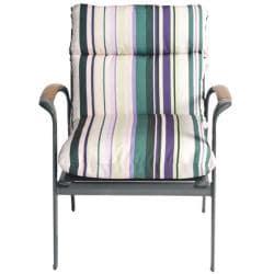 Pia Stripe Outdoor Purple Patio Club Chair Cushion   Overstock