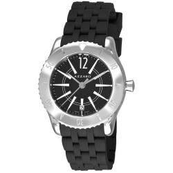 Azzaro Men's AZ2200.12BB.010 'Coastline' Black Dial Black Rubber Strap Watch