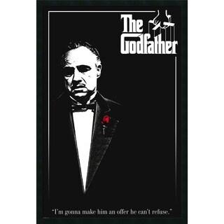 Godfather - Red Rose' Framed Art Print with Gel Coated Finish