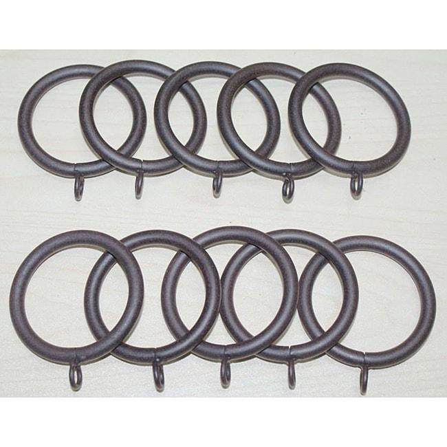 Steel 1.25-inch Rustica Curtain Rings (Set of 10)