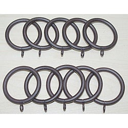 Steel 1.25-inch Rustica Curtain Rings (Set of 10)