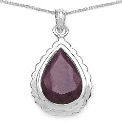 Malaika Sterling Silver Genuine Ruby Necklace