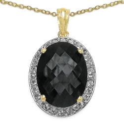 Malaika 14k Gold over Silver Sapphire and White Topaz Necklace
