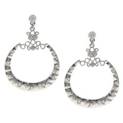 Hermosa 18k White Gold Overlay Dangle Earrings