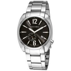 Azzaro Men's 'Seventies' Stainless Steel Bracelet Small Second Watch