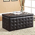 Mason Black Storage Bench and Two Cube