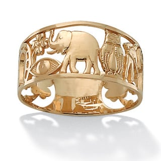 Toscana Collection 14k Yellow Gold 'Good Luck' Ring