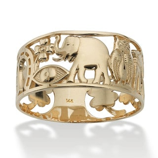 PalmBeach Good Luck Ring in 14k Gold Tailored