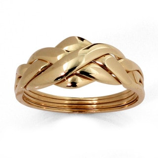 PalmBeach 10k Gold Puzzle Ring Tailored