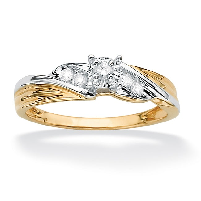 PalmBeach 10k Gold1/10ct TDW Diamond Ring (H-I, I2-I3)