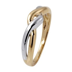 Toscana Collection 10k Two-tone Gold Twist Ring
