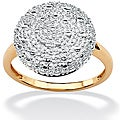 Isabella Collection 10k Gold 1/10ct TDW Diamond Pave Cluster Ring (G-H, I2-I3)